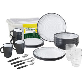 Brunner All Inclusive Dishes Set 36 Pieces, grijs/wit